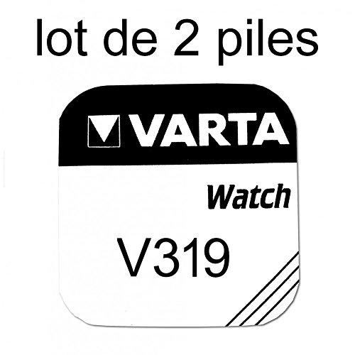 Pile de montre bouton varta 319 SR527SW 1.55v lot 2 piles