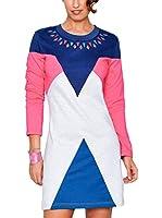 HHG Vestido (Blanco / Rosa / Azul)
