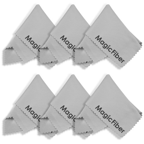 (6 Pack) Magicfiber Microfiber Cleaning Cloths For Lcd, Tv And Laptop Screens, Camera Lenses, Tablets (Ipad, Nexus, Nook), Cell Phones (Iphone, Samsung, Blackberry), Glasses, Jewelry, And Other Delicate Surfaces