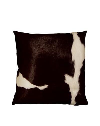 Natural Brand Torino Cowhide Pillow, Chocolate & White