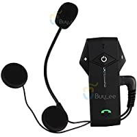 Buyee1000m Bt Interphone Bluetooth Motorcycle Helmet Intercom Headset NFC with 3 Color Covers Black(1) / Red(1) / Silver(1) for Free by Buyee