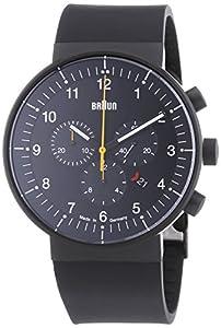 Braun BN0095BKBKBKG - Reloj analógico unisex de caucho negro