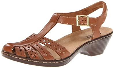 Clarks Womens Wendy Lily Sandals,Tan,6