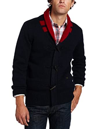Scotch & Soda Men's Cardigan With Zip, Blue/Red, Small