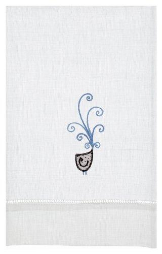 Happy Bird Linen Tea Towel