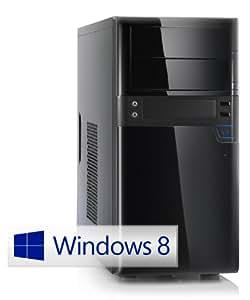 CSL Unité Centrale Speed F10010W8 comp. Windows 8.1 - Intel 4x 2000MHz, RAM 4Go, HDD 500Go, Intel HD Graphics, DVD, USB 3.0