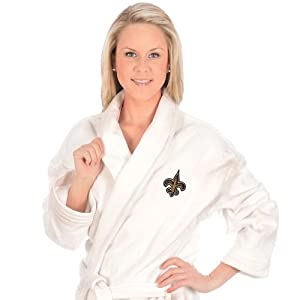 Buy McArthur New Orleans Saints Bath Robe - New Orleans Saints One Size by WinCraft