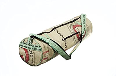Large Yoga Mat Bag By Eco2use - The Original ECO BAG - Fits Large Yoga Mats - Outside Storage Pockets - Easy Access Zipper - Includes Elephant Keychain