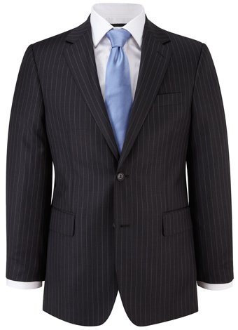 Austin Reed Classic Fit Charcoal Stripe Suit REGULAR MENS 36