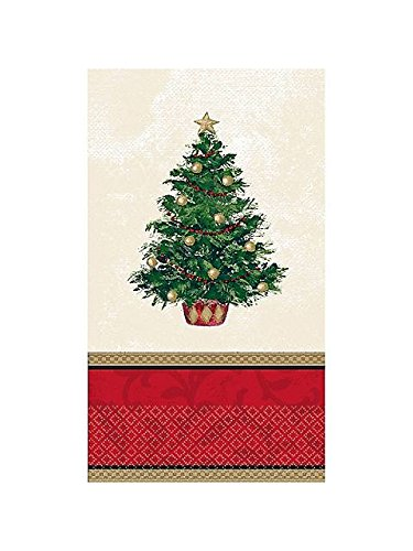 Amscan 16 count Classic Christmas Tree Gues Towels, Multicolor