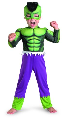Marvel Super Hero Squad Hulk Toddler Muscle Costume