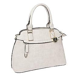 Fur Jaden White Croc Handheld Bag