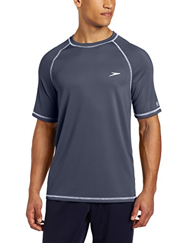 Speedo Men's Easy Short Sleeve Swim Tee, Granite, Medium (Wet Shirt compare prices)
