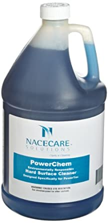 Nacecare 8020960 PowerChem Hard Surface Restroom Cleaner, 1 Gallon Bottle (Pack of 4)