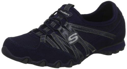 Skechers-Bikers-Hot-Ticket-21159-NVY-Zapatillas-de-cuero-para-mujer