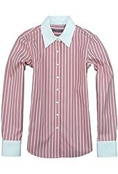 Liz Claiborne Womens Iron Free Button Front Stripe Shirt
