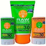 Raw Elements Family Sunscreen Pack - 3 Piece Bundle