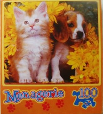 Menagerie 100pc - Fluffy Friends by Menagerie Puzzle - 1