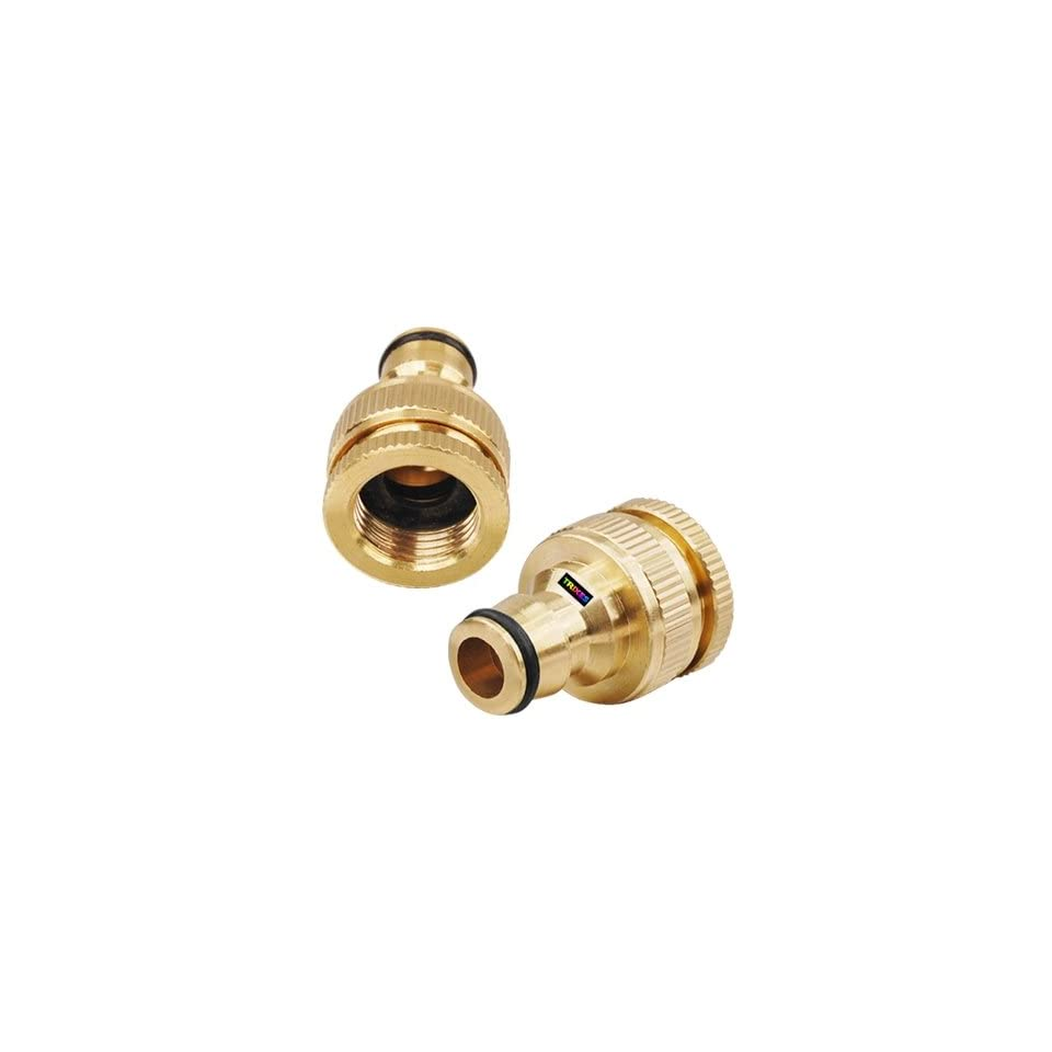 TRIXES 3/4 Solid Brass Garden Hose Pipe Connector Adaptor