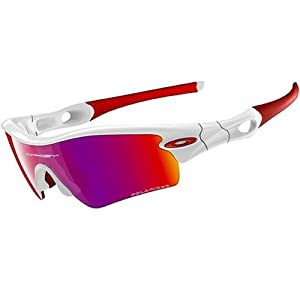 Oakley Radar Path Adult Polarized Sport Casual Sunglasses - Polished White/OO Red Iridium / One Size Fits All