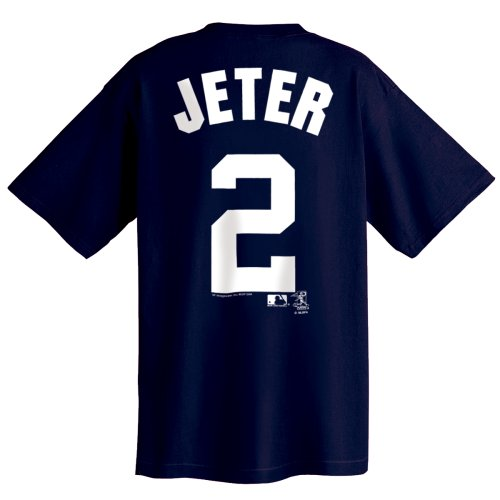 MLB New York Yankees Derek Jeter Name and Number T-Shirt Navy, X-Large at Amazon.com