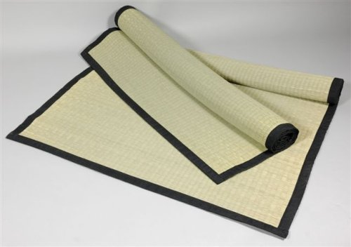 "Simple Natural Beautiful Yoga Mat - 6ft. Japanese Design Woven Grass Goza Throw Rug - 72"" x 36"""