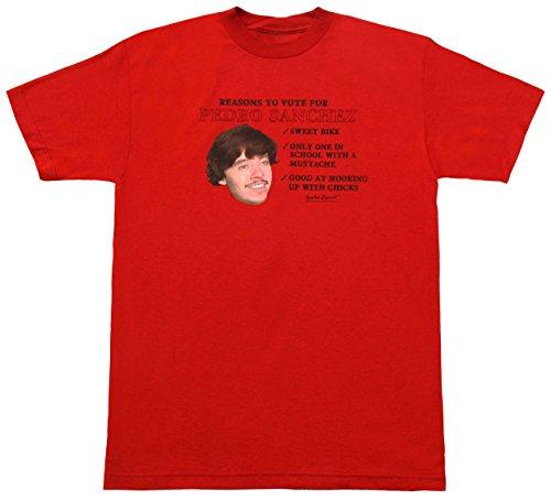Napoleon Dynamite Vote for Pedro Sanchez T-shirt Red, Medium (Napoleon Dynamite Vote For Pedro)