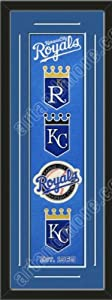 Heritage Banner Of Kansas City Royals With Team Color Double Matting-Framed Awesome... by Art and More, Davenport, IA