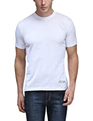 AWG Men's Jersey Round Neck Dryfit T-shirt - White