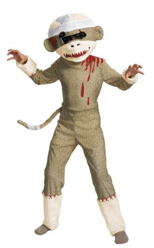 Costumes For All Occasions DG19425K Zombie Sock Monkey 7-8
