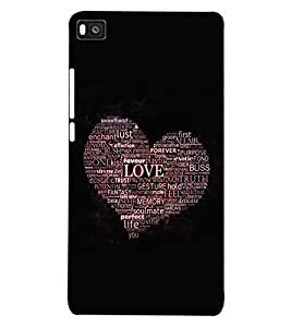 ColourCraft Love Heart Back Case Cover for HUAWEI P8