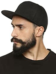 Babji HipHop Solid Black Snapback Caps Hats for Cool Men Gents Guys Trendy