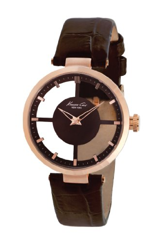 Kenneth Cole New York Women's KC2647 Rose Gold Transparent Dial Round Watch
