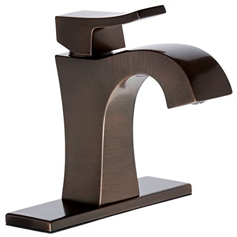 Mirabelle MIRWSVL100 Vilamonte Waterfall Bathroom Faucet -Free Pop-Up Drain Asse, Oil Rubbed Bronze