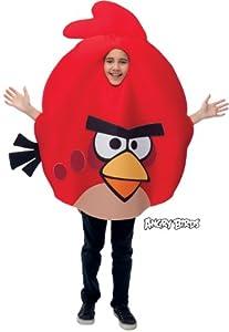 Angry Birds Angry Birds Roter Vogel Kostüm für Kinder Einheitsgröße