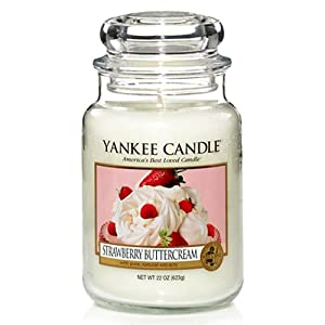 Yankee Candle - Strawberry Buttercream - Large Jar by Yankee Candles