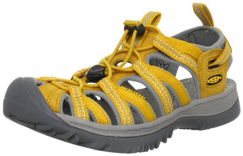 KEEN Women's Whisper Sandal,Golden Yellow/Neutral Gray,10.5