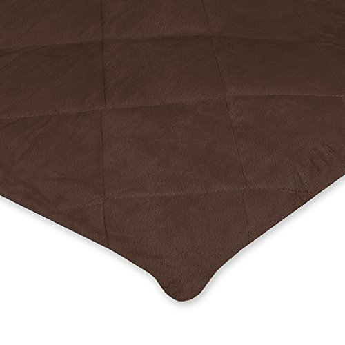 Carter's Valboa Quilted Fitted Playard Sheet, Dark Bark Brown