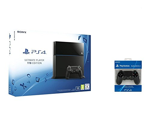 PlayStation 4 - Konsole Ultimate Player 1TB Edition + 2 DualShock 4 Wireless Controller