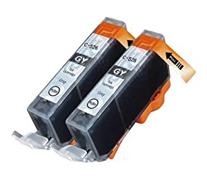 2 Pack Compatible Canon CLI-526 2 Gray for use with Canon Pixma MG6250, Pixma MG8250. Ink Cartridges for inkjet printers. CLI-526GY © Cartridge Net