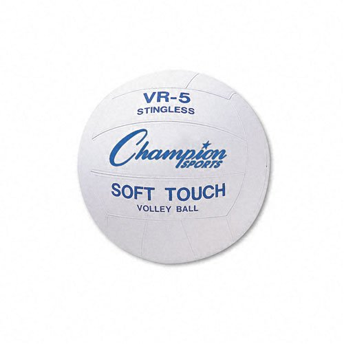Champion Sports Products - Champion Sports - Volleyball, Rubber/Nylon, Official Size, White - Sold As 1 Each - Perfect for the playground or sports field. - Water-resistant rubber cover allows play on all surfaces. - Constructed to better retain air under