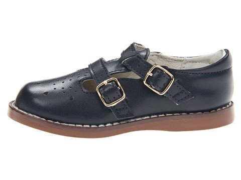 Footmates Girls Danielle 3 Navy Flats 8 Toddler M/W front-992011