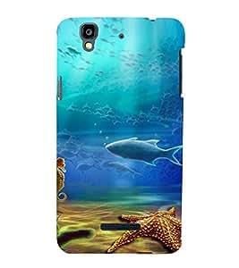 Fuson Premium Back Case Cover Aquatic life With Grey Background Degined For YU Yureka::Micromax Yureka AO5510