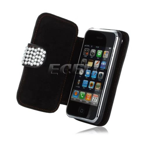 Ecell   CLEAR HELLO KITTY LEATHER BLING CASE FOR iPHONE 3G 3GS