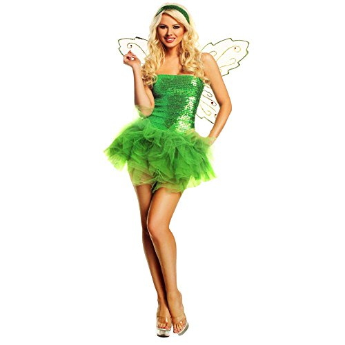 Mystery House Womens Sequin Fairy Halloween Party Costume Set