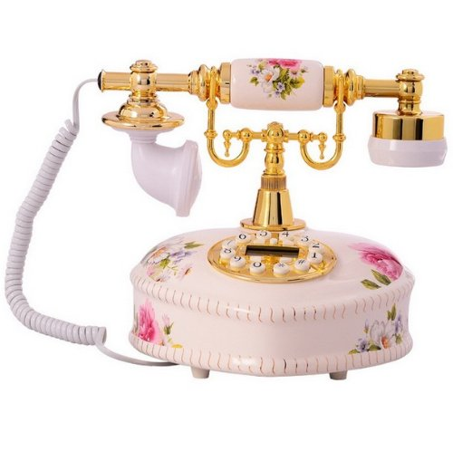 Generic Golden Eagle Corded Antique Porcelain French Telephone -21 Reviews