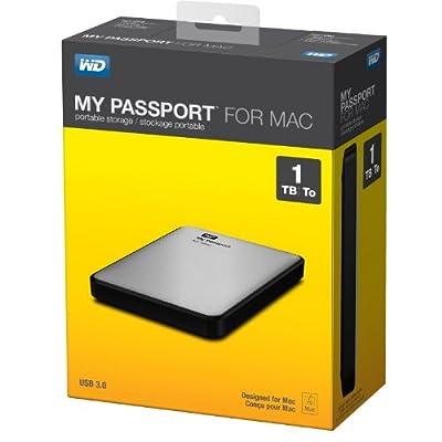 WD My Passport for Mac 1TB Portable External Hard Drive Storage USB 3.0