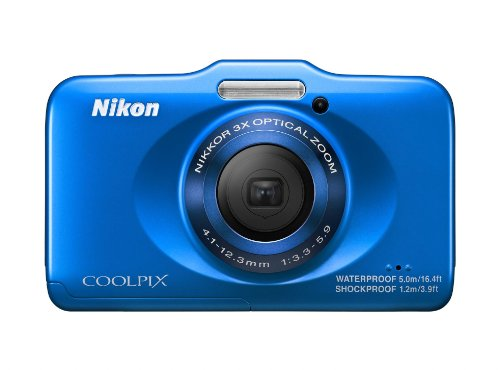 Nikon COOLPIX S31 10.1 MP Waterproof Digital Camera with 720p HD Video (Blue)