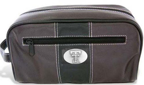 Texas Tech - Two-Tone Leather Toiletry Bag