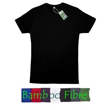 T-shirt en bambou et en coton biologique : XXL, noir